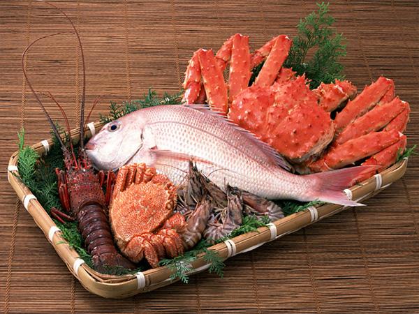 金目鯛・蟹